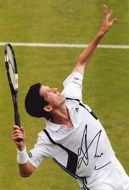 Tim Henman, Wimbledon tennis, signed 12x8 inch photo.